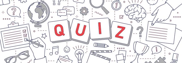 Gezeichnetes Doodle zum Thema Quiz