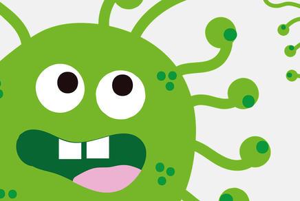 Graphische Darstellung eines Coronavirus